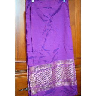 質感紫色金絲泰式沙龍一片裙