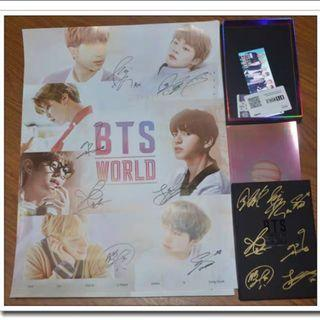 BTS Handsign Autograph WORLD OST