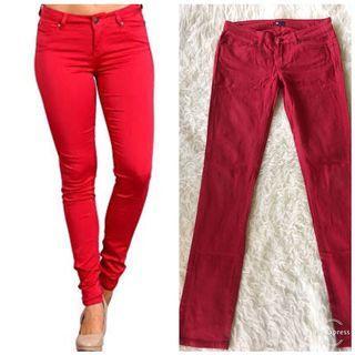 Preloved DC skinny red pants