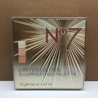 No 7 Limited Edition Illuminating Palette