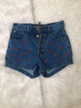Jeans lucu / short / celana pendek jeans