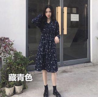 🇰🇷韓版休閒韓妞氣質連身碎花長裙(全新!)