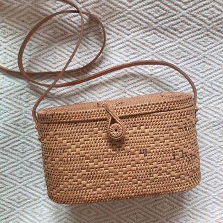 峇里島帶回 渡假感手工藤編包竹編包草編包
