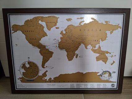 刮刮 世界地圖