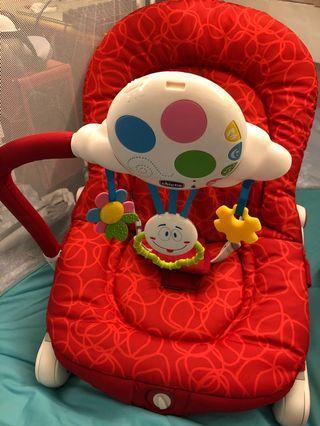 chicco balloon安撫椅 紅