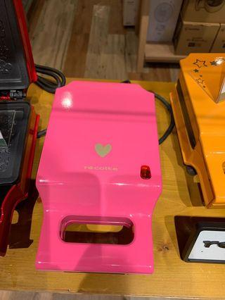 全新未開封日本麗克特現貨全新愛心款未拆封 RECOLTE 格子三明治機 愛心限定款 特價只有一台