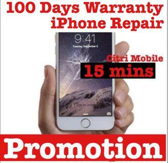 15m Phone Repair, iPad Samsung Battery Screen Repair Service
