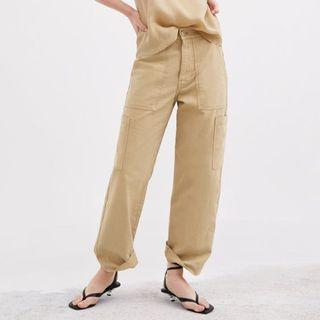 [New w/ Tag] ZARA denim trousers with pocket