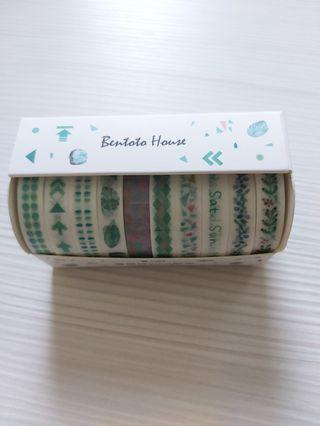 10 Rolls of Washi Tapes (12 colours)