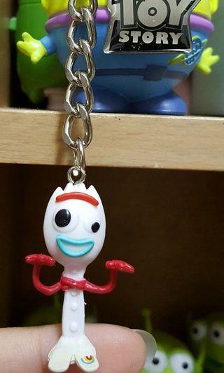 全家集點 野獸國 叉奇 玩具總動員4  ToyStory玩心總動員 鑰匙圈 吊飾