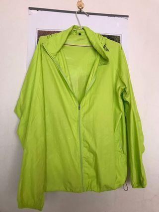 螢光色防風外套