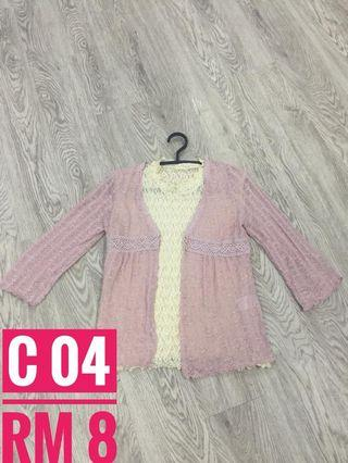 Knitted Cardigan Pink