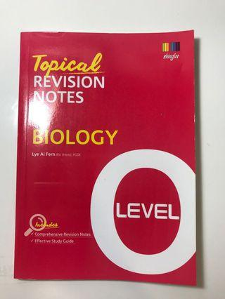 O Level Topical Revision Notes Biology