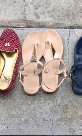 二手  平底  涼鞋  拖鞋   夾腳