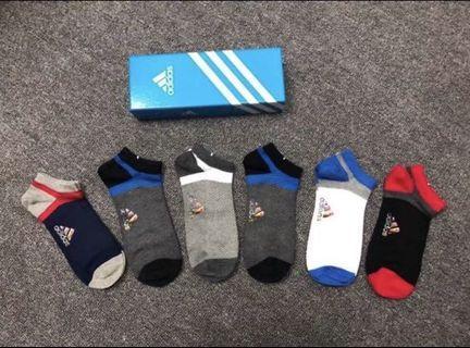 「現貨 」ADIDAS 運動棉襪 棉質短襪 愛迪達 logo 潮流 (6雙入)