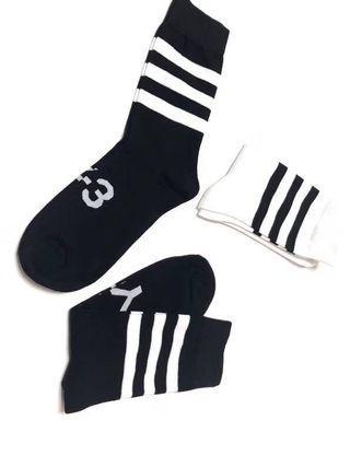 「現貨」Y-3 中高筒 運動滑板襪 吸濕排汗襪(3入)