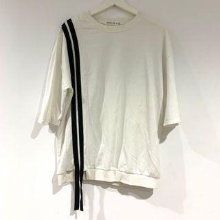 白色設計款上衣