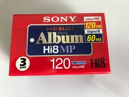 Sony Hi8 3 Pack. RARE, Sealed, Original. For retro videoing