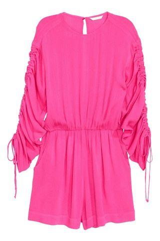 [free shipping] H&M long sleeve playsuit