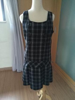 Tweet black and white checkered Dress
