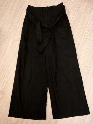 [限定]綁帶黑寬褲五件組