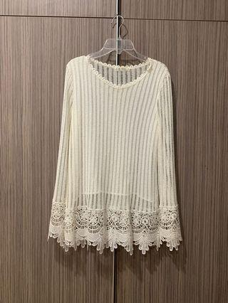 🚚 White knitted top