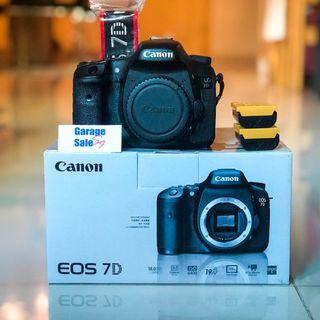USED~Canon pack~EOS 7D+LP-E6 x2+RC-6