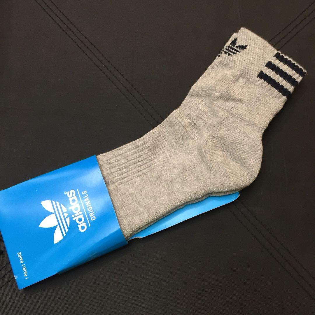 latest details for special for shoe adidas grey thick socks 灰色厚襪袜on Carousell