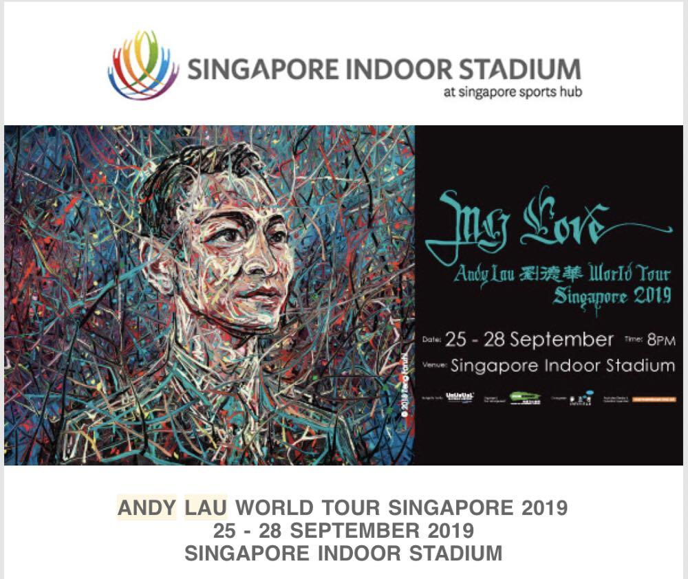 Cheap Andy Lau Cat 1 - Sat Sept 28 (v keen to sell)