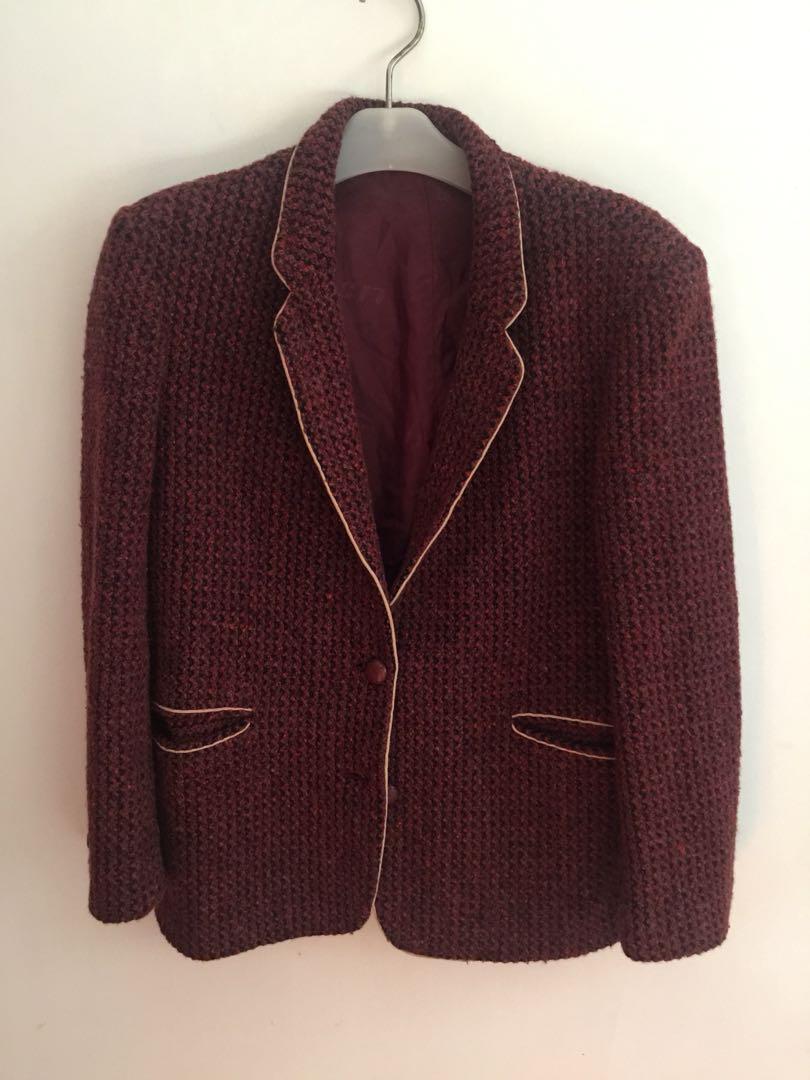 blazer import bahan tweed