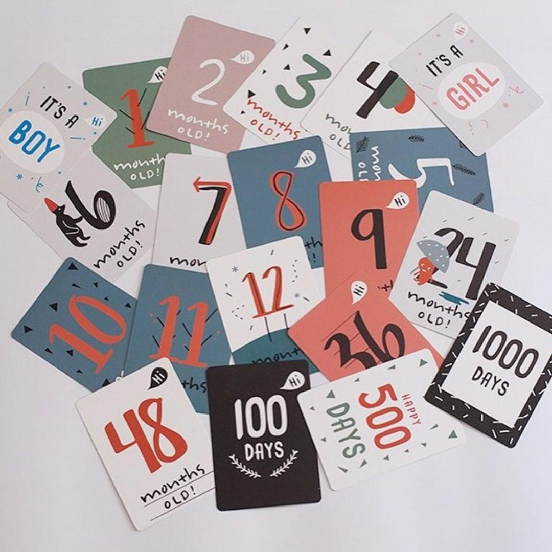 Count Up MileStones Baby Cards