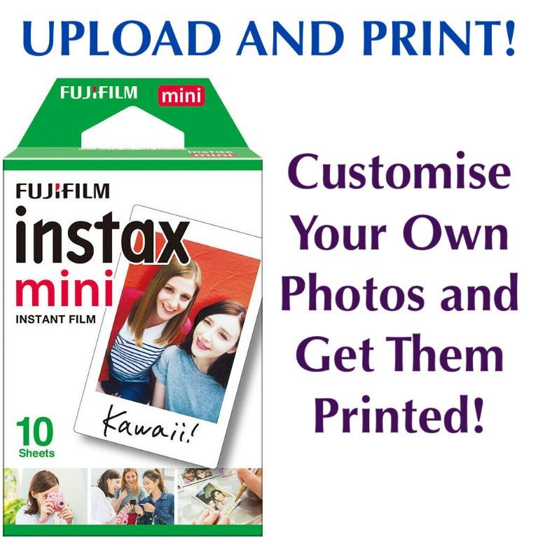 Customised Instax Mini Print Your Own Picture Using Upload Fujifilm Polaroid
