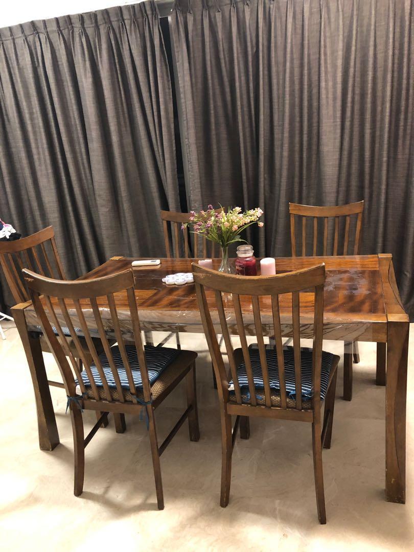 Dining Table Set (hardwood)