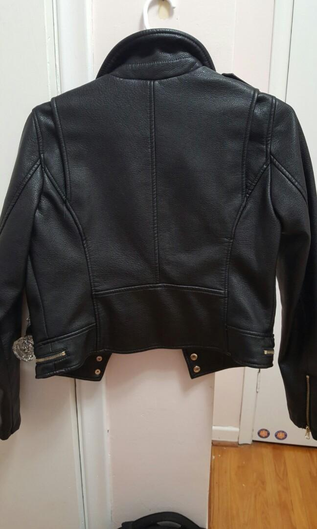 Dynamite Faux Leather Jacket (size small)