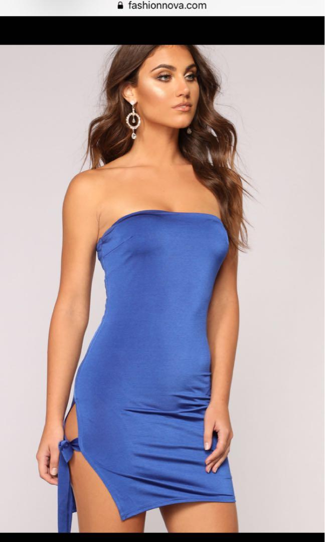 Fashion Nova Aquarius Tube Dress - Royal