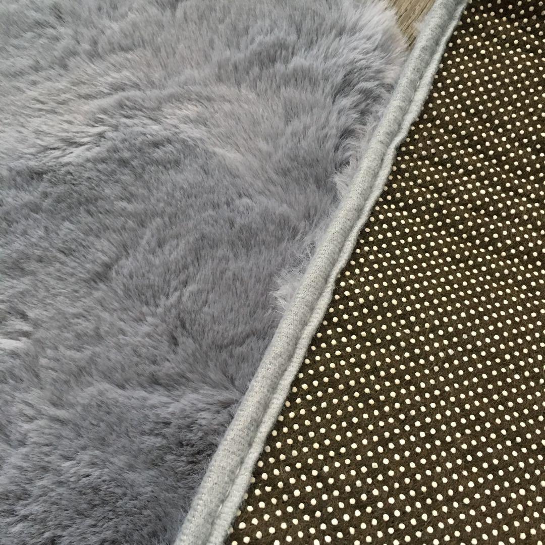 Fluffy long floor mat