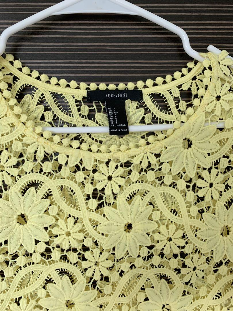 Forever 21 top in yellow