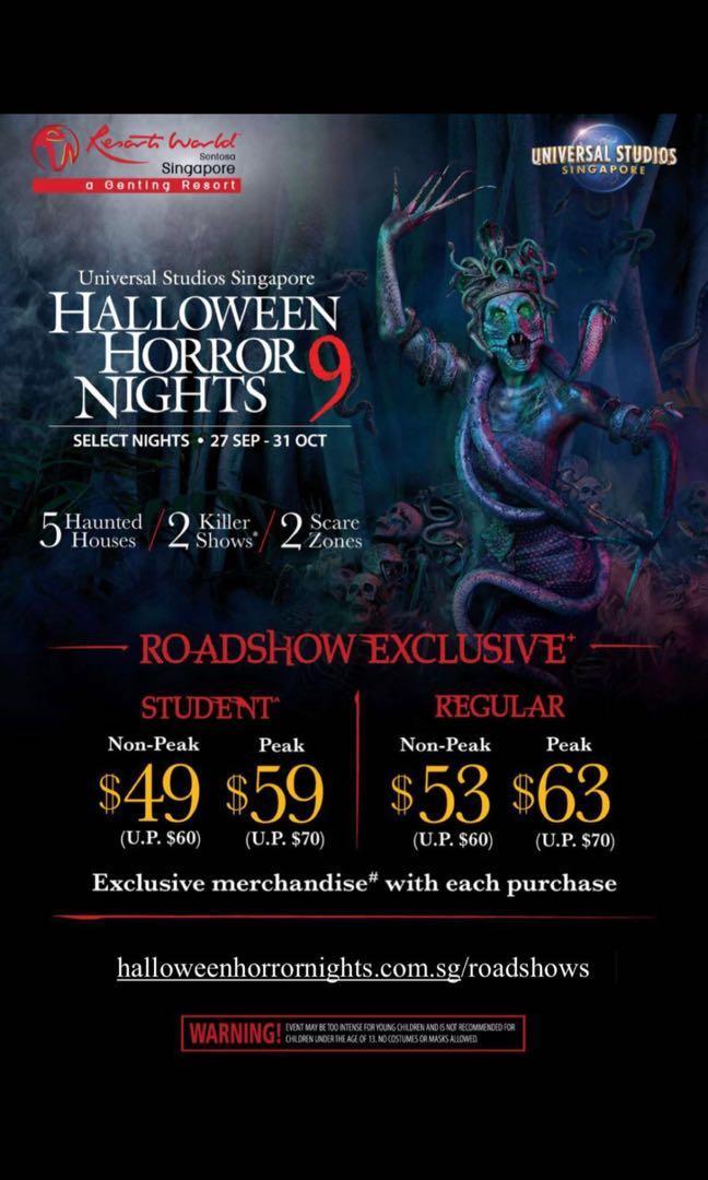 Halloween Horror Nights 2019 Poster.Halloween Horror Night Tickets Entertainment Events