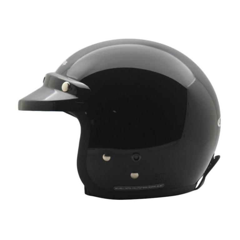 Helm Cargloss Retro Army Half Face Size XL - Deep Black
