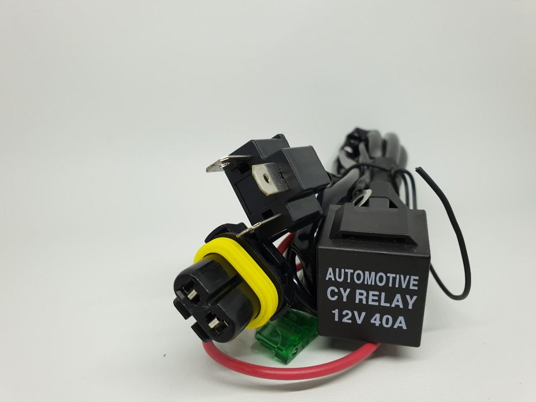 Kabel Set Relay HID H4 Lampu Motor Cable Harness Wiring Control Aksesoris Motor
