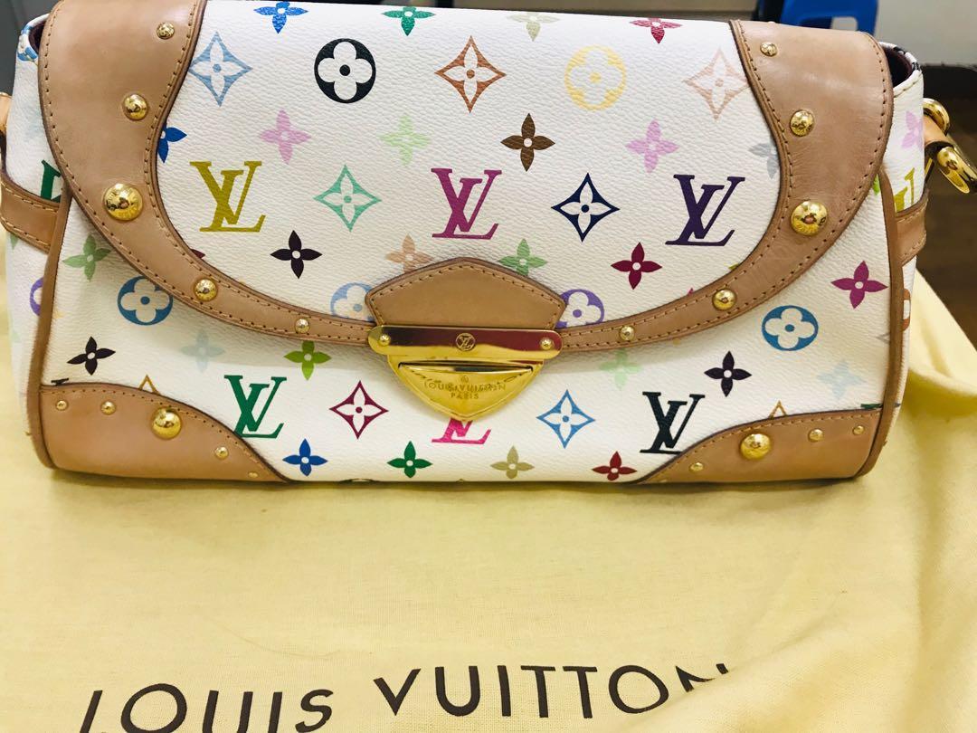 Lv White Multicoloured Marilyn Bag