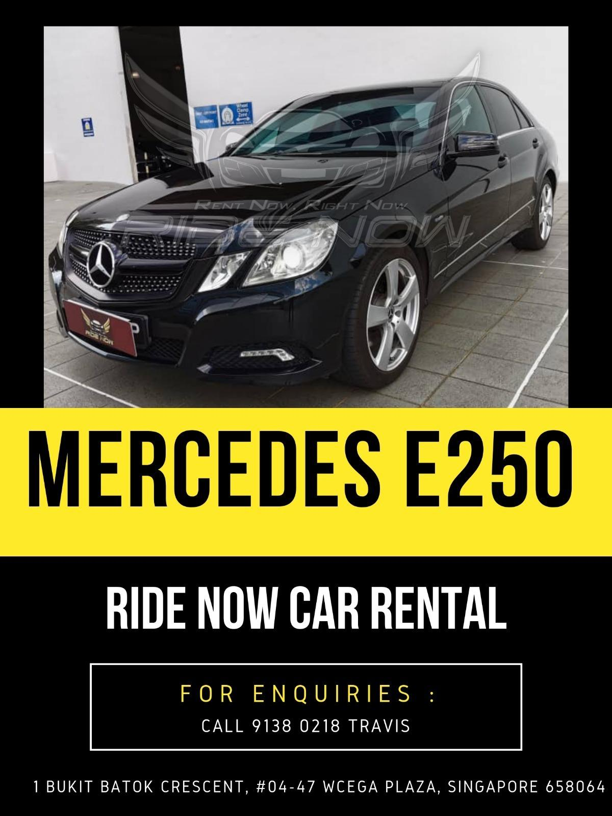 Mercedes E250 CGI Shiny Shimmering Black Classy Luxury Vehicle for Rent!