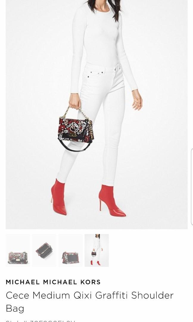Michael Kors Cece Medium Qixi Grafitti Shoulder Bag