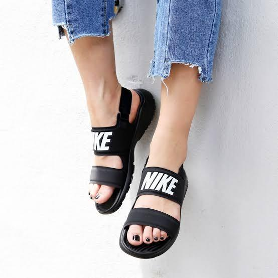 Original Nike Tanjun Sandals, Women's Fashion, Shoes, Flats ...