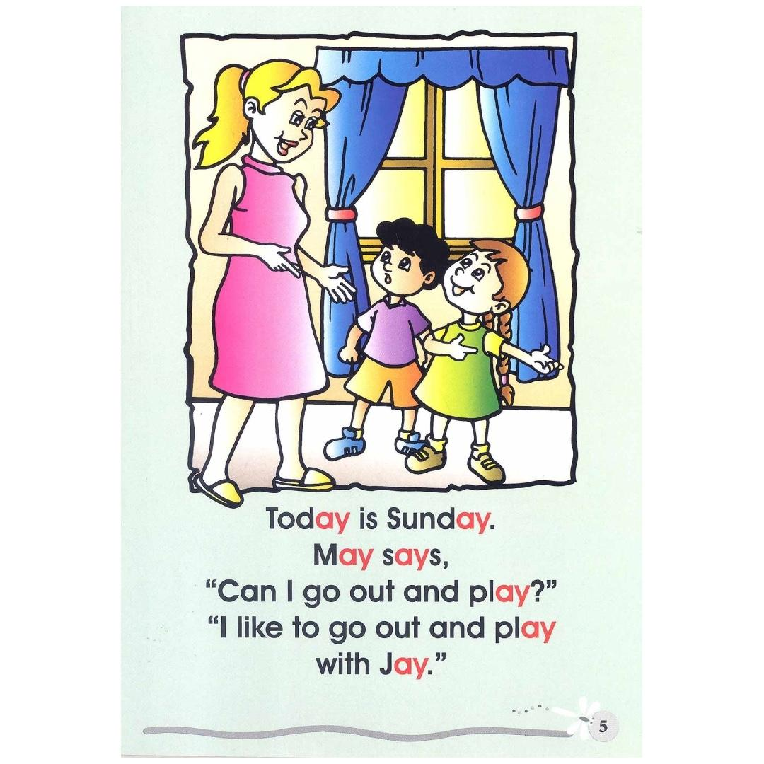 Phonics in Reading Series 1: Book 6 - May and Jay Stay Away from the Rain   Children's Book   Early Readers