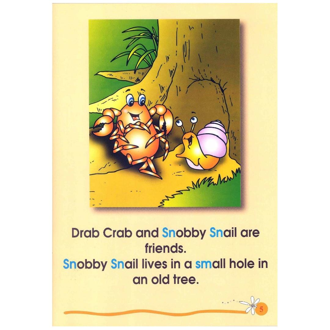 Phonics in Reading Series 2: Book 3 - Snobby Snail and Smarty Snake | Children's Book | Early Readers