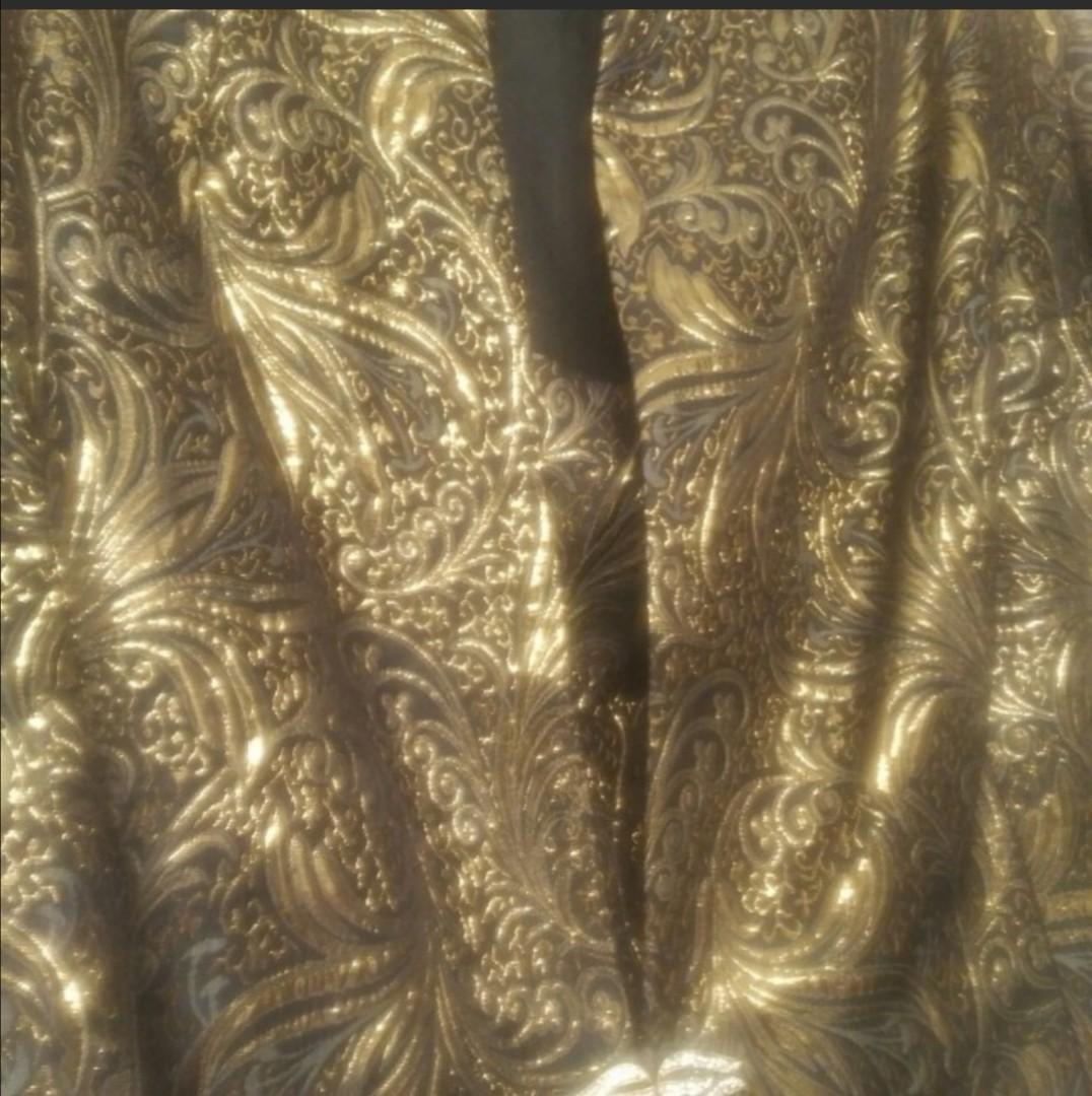 Plus Size Gold/Black 2pc Ladies Dressy Jacket and Tank