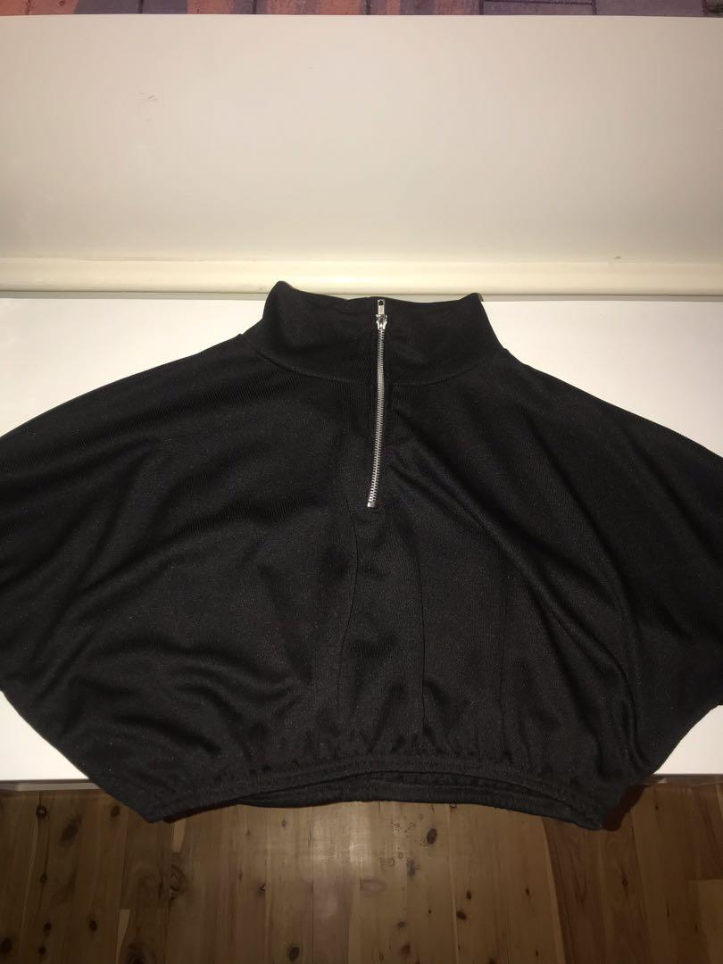 Pretty Little Thing Black Turtle Neck Cropped Jumper