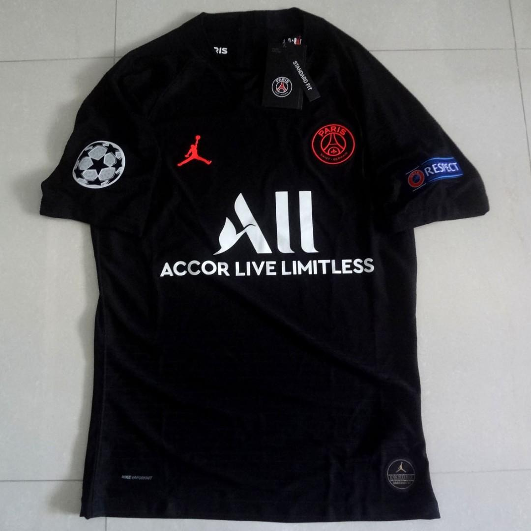 release date: dc912 441d7 PSG Paris Saint Germain Player Version 19/20 Soccer Jersey ...