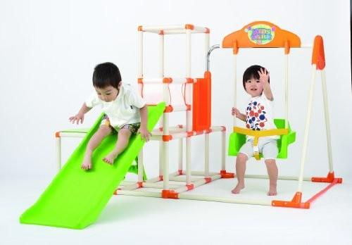 Quadro gym with swing and slides on Carousell